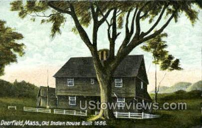 Old Indian House - Deerfield, Massachusetts MA Postcard
