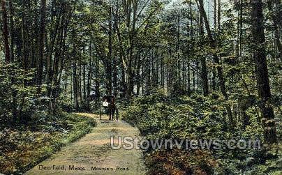 Mountain Road - Deerfield, Massachusetts MA Postcard
