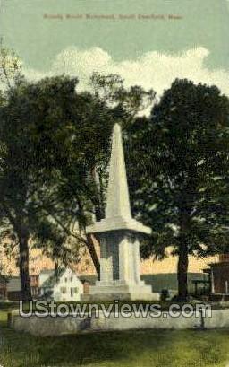 Bloody Brook Monument - Deerfield, Massachusetts MA Postcard