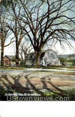 Old Bartlett House - Deerfield, Massachusetts MA Postcard