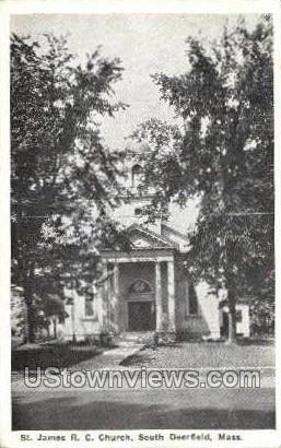 St. James R.C. Church - Deerfield, Massachusetts MA Postcard