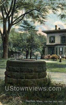 Old Fort Well - Deerfield, Massachusetts MA Postcard