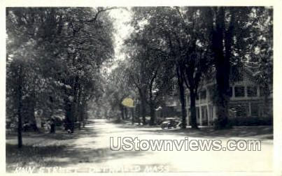 Real Photo - Main St. - Deerfield, Massachusetts MA Postcard