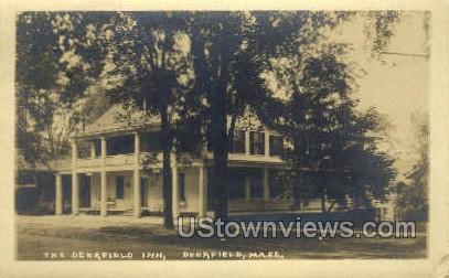 Real Photo -The Deerfield Inn - Massachusetts MA Postcard