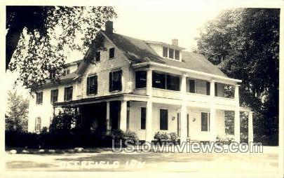 Real Photo -Deerfield Inn - Massachusetts MA Postcard