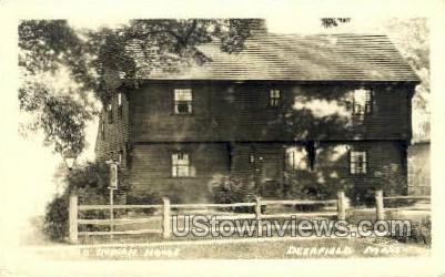 Real Photo -Old Indian House - Deerfield, Massachusetts MA Postcard