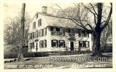 Real Photo -Home of Geo. Sheldon - Deerfield, Massachusetts MA Postcard