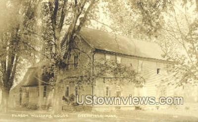 Real Photo -Parson Williams House - Deerfield, Massachusetts MA Postcard