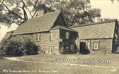 Real Photo -Old Fairbanks House - Dedham, Massachusetts MA Postcard