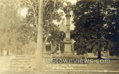 Real Photo -Old Fort Well  - Deerfield, Massachusetts MA Postcard