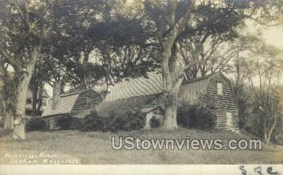 Real Photo -Fairbanks House - Dedham, Massachusetts MA Postcard
