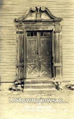 Real Photo -Doorway - Deerfield, Massachusetts MA Postcard