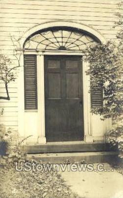 Real Photo -Cowles Front Door - Deerfield, Massachusetts MA Postcard