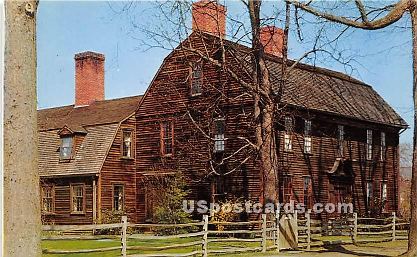Ashley House - Deerfield, Massachusetts MA Postcard