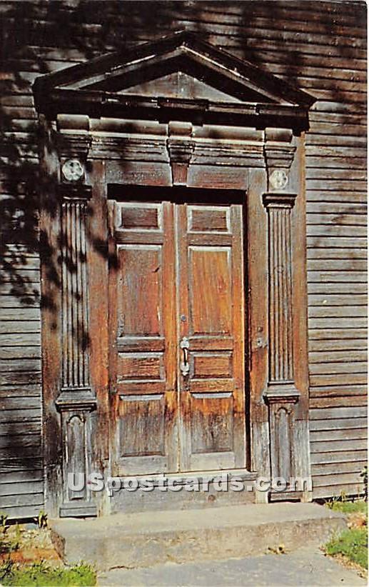 Doorway of Sheldon Hawks House 1739 - Deerfield, Massachusetts MA Postcard