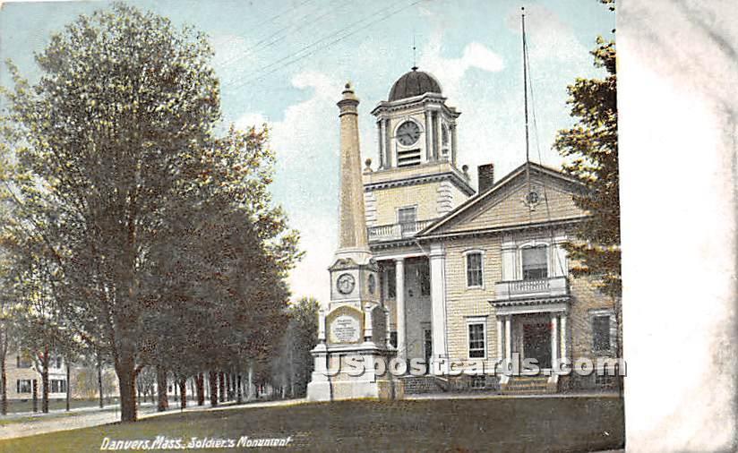 Soldiers' Monument - Danvers, Massachusetts MA Postcard