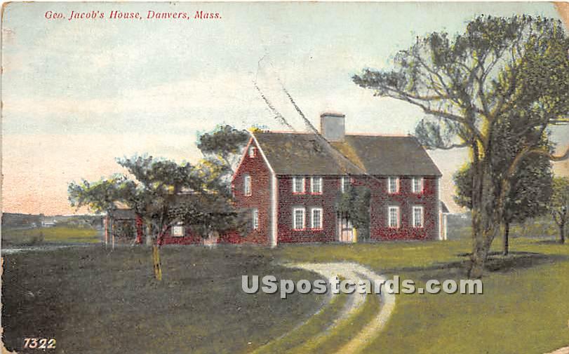 Geo Jacob's House - Danvers, Massachusetts MA Postcard