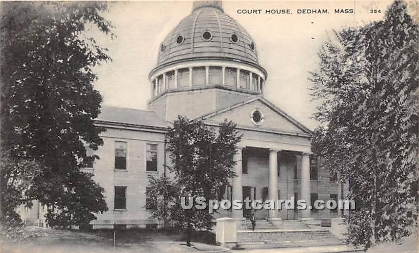 Court House - Dedham, Massachusetts MA Postcard