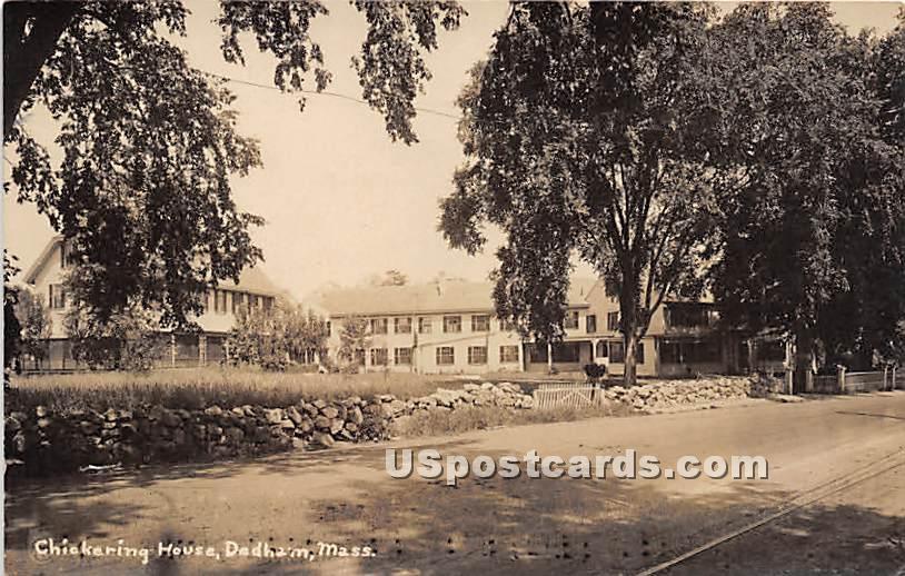 Chickering House - Dedham, Massachusetts MA Postcard
