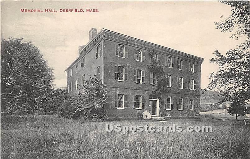 Memorial Hall - Deerfield, Massachusetts MA Postcard