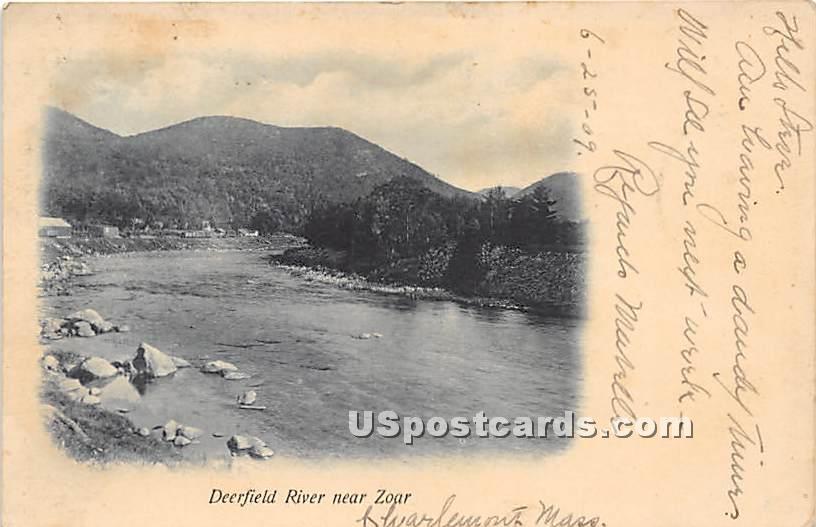 Deerfield River near Zoar - Massachusetts MA Postcard