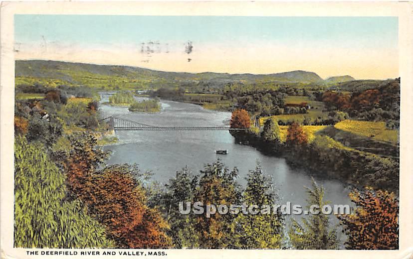 The Deerfield River & Valley - Massachusetts MA Postcard