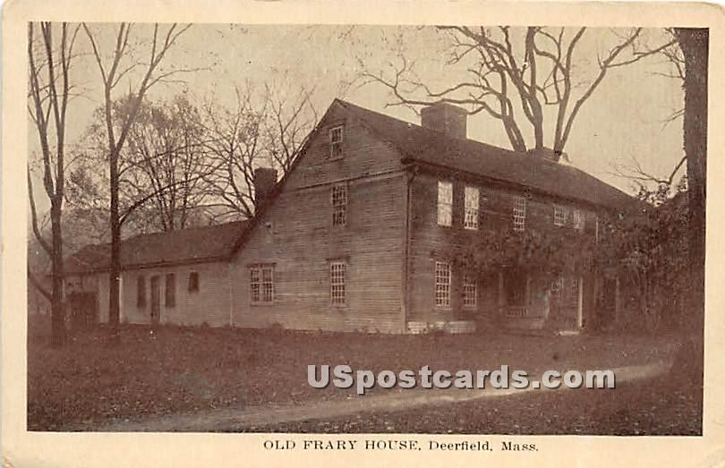 Old Frary House - Deerfield, Massachusetts MA Postcard