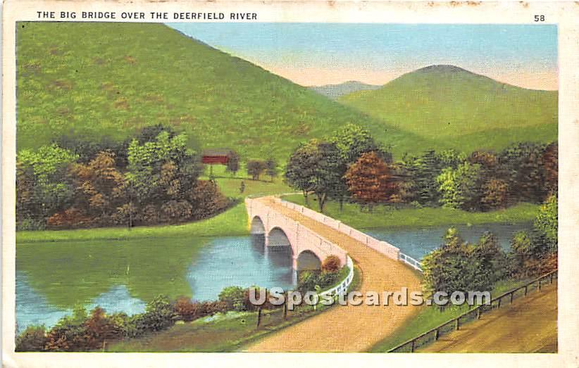 The Big Bridge over the Deerfield River - Massachusetts MA Postcard