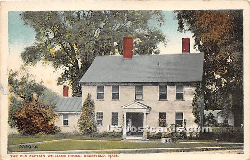 The Old Captain Williams House - Deerfield, Massachusetts MA Postcard