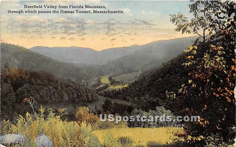 Deerfield Valley from Florida Mountain - Massachusetts MA Postcard