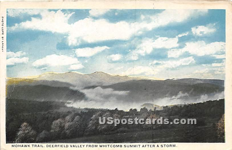 Mohawk Trail, Deerfield Valley from Whitcomb Summit after a storm - Massachusetts MA Postcard