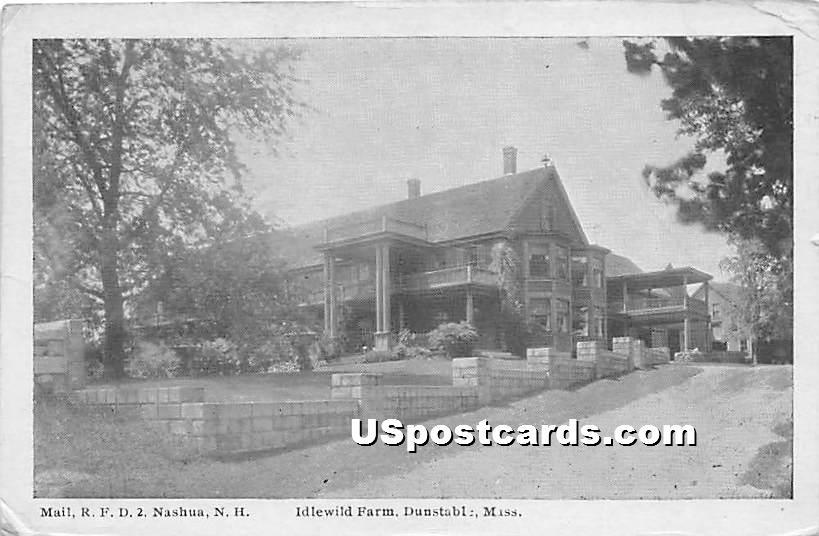Idlewild Farm - Dunstable, Massachusetts MA Postcard