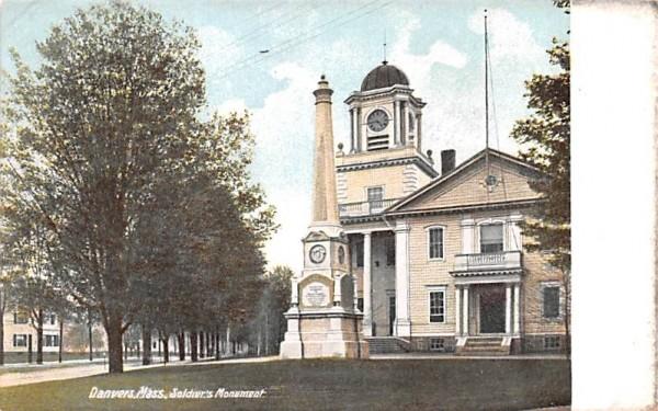 Soldier's Monument Danvers, Massachusetts Postcard