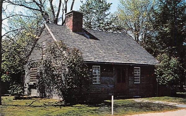 Little Brown House of the Alban's Road Deerfield, Massachusetts Postcard