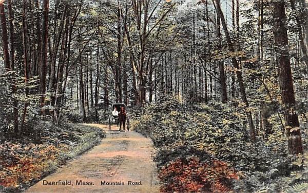 Mountain Road Deerfield, Massachusetts Postcard