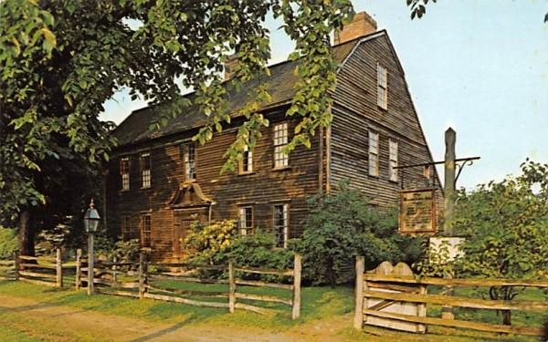 Ashley House Deerfield, Massachusetts Postcard