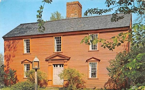 Salt Box House Deerfield, Massachusetts Postcard