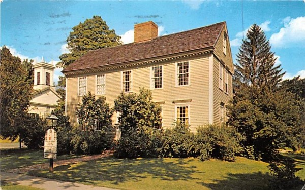 Wells-Thorn House Deerfield, Massachusetts Postcard