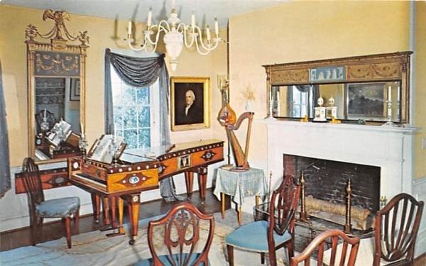 Wright House Deerfield, Massachusetts Postcard