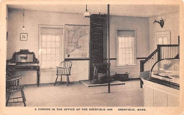 A Corner in the Office of the Deerfield Inn Massachusetts Postcard