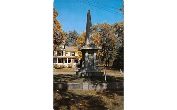 Bloody Brook Monument Deerfield, Massachusetts Postcard