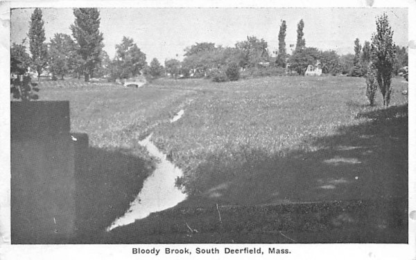 Bloody Brook Deerfield, Massachusetts Postcard