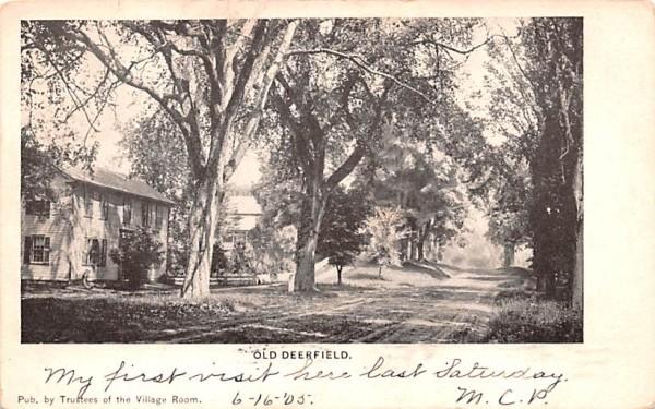 Old Deerfield Massachusetts Postcard