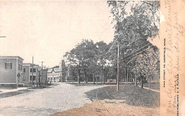 Main Street Deerfield, Massachusetts Postcard