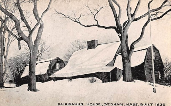 Fairbanks House Dedham, Massachusetts Postcard