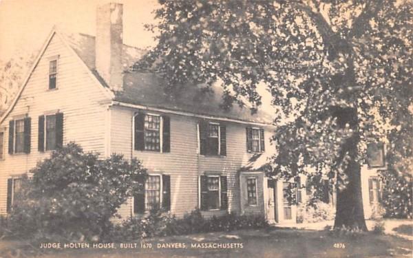 Judge Holten House Danvers, Massachusetts Postcard