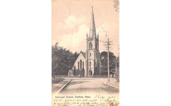 Episcopal Church Dedham, Massachusetts Postcard
