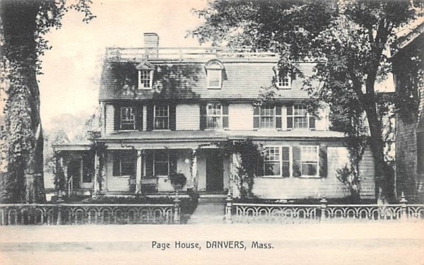 Page House Danvers, Massachusetts Postcard