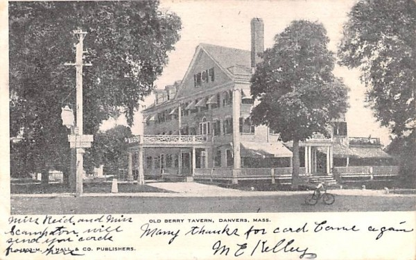 Old Berry Tavern Danvers, Massachusetts Postcard