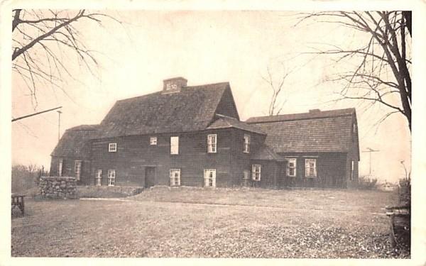 Old Fairbanks House Dedham, Massachusetts Postcard